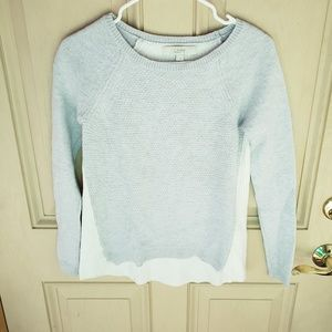Ann Taylor Loft Grey and White Sweater